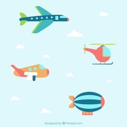Voar com aviões modelo banners