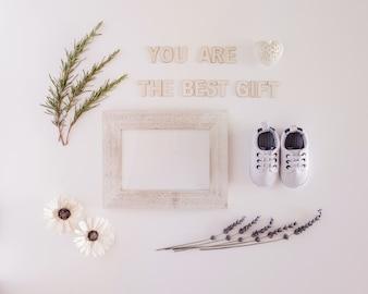 Você é o melhor presente para uma foto recém-nascida