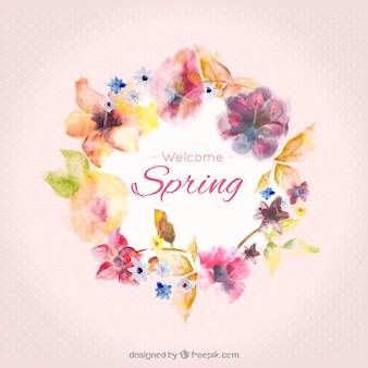 Watercolor primavera quadro