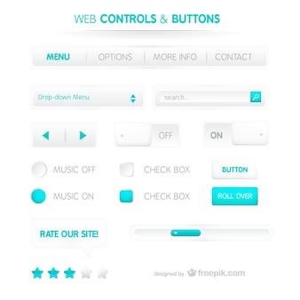 Modelo de controle web e botões