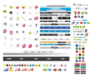 web design comumente utilizados elementos de material vector