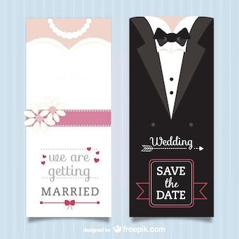 Pacote do convite do casamento