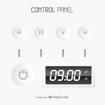 Painel de controle branco