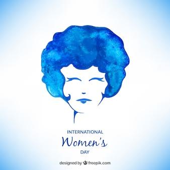 Mulheres Cartão do dia no estilo da aguarela