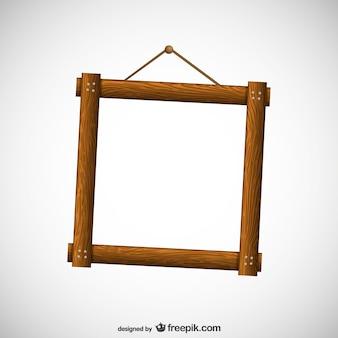 Frame de madeira livre vector