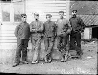 Os trabalhadores da fábrica de alumínio