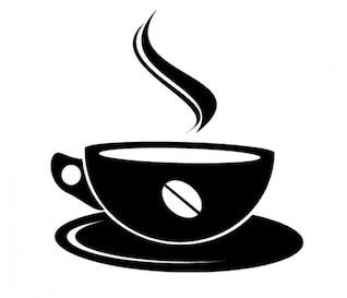 Xícara de café vista lateral