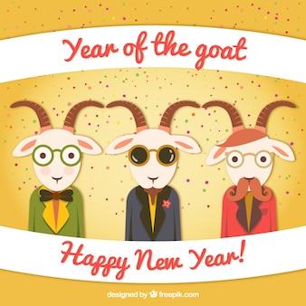 Ano do desenho animado Goat