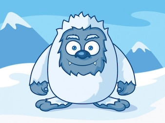 Caráter Yeti dos desenhos animados