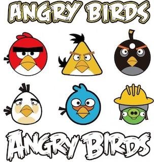 zangado aves gráfico vetorial