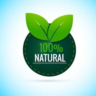 100% natürliche runde Aufkleber