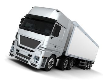 3D Cargo Delivery Vehicle Render eines