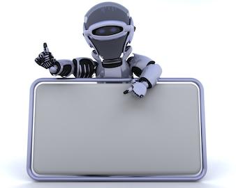 3D übertragen von einem Roboter und leere Zeichen
