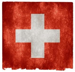 Schweiz grunge flag