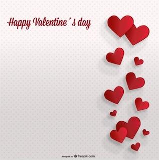 Valentinstag Hintergrund Retro-Punkte-Karte Design