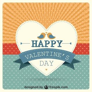 Die Sunburst Herzen Valentinstag Vektor-Karte