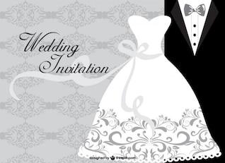Minimalistische Hochzeitskarte