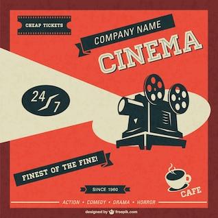 Retro-Kino-Vorlage kostenlos herunterladen