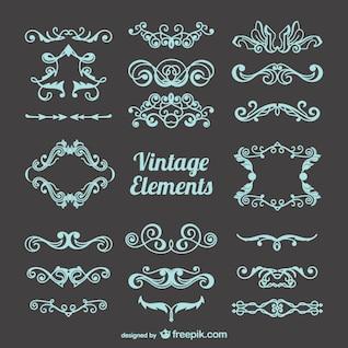 Kostenlos vintage Dekorationen eingestellt