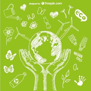 Die Umwelt zu schützen Vektor