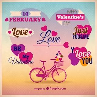 Karte Vorlage der Valentinstag