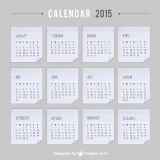 2015 Kalender Vektor