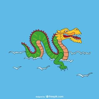Asian Dragon Cartoon