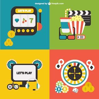 Glücksspiel-Vektoren