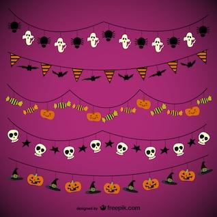 Halloween Girlanden Pack
