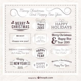 Frohe weihnachten Abzeichen Pack