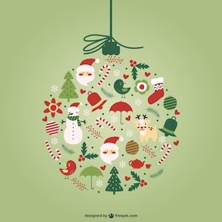 Kreative Weihnachtskugel Vektor