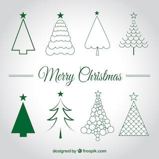 Weihnachtsbäume Skizzen