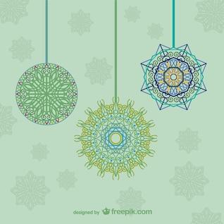 Künstlerische hängende Ornamente für Weihnachten
