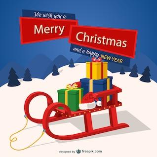 Weihnachten Hintergrund mit Schlitten