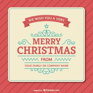 Weinlese-Weihnachtskarte Vorlage