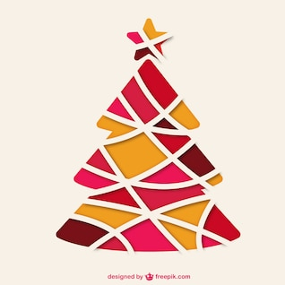 Abstrakter Weihnachtsbaum Vektor