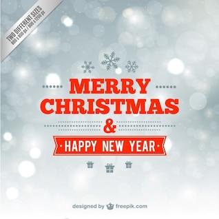 Minimalistischen Frohe Weihnachten und Happy New Year Card