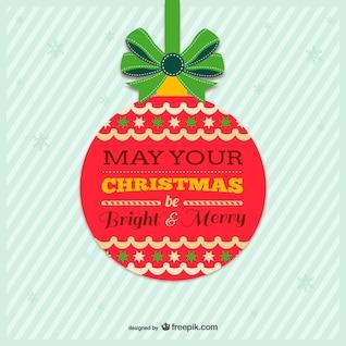 Jahrgang bunten Weihnachtskarte