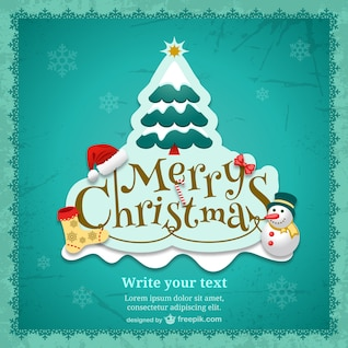Weihnachtskarte Vorlage mit Cartoons