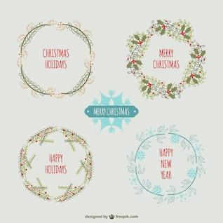 Weinlese-Weihnachtskränze