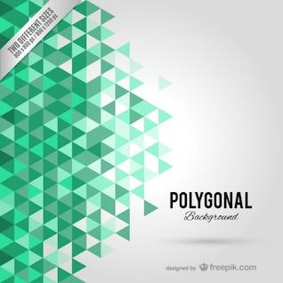 Hintergrund mit grünen Polygone