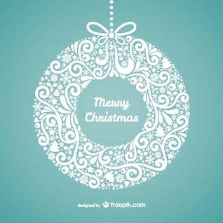 Floral frohe Weihnacht-Karte
