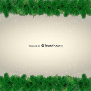 Grüne Blätter Grenze für Weihnachten
