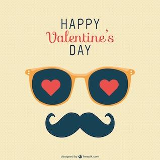 Glückliche Valentinstag-Schnurrbart Gruß