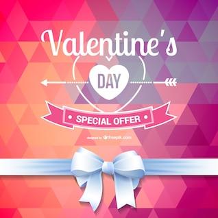 Polygonale Valentine Sonderangebot Hintergrund