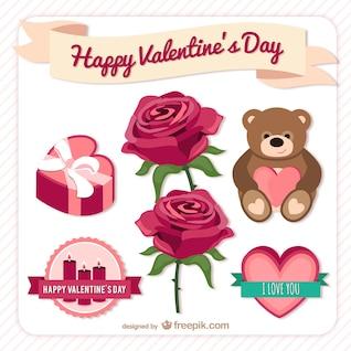 Happy Valentine Day Elemente