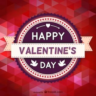 Polygon-Valentinstag-Design