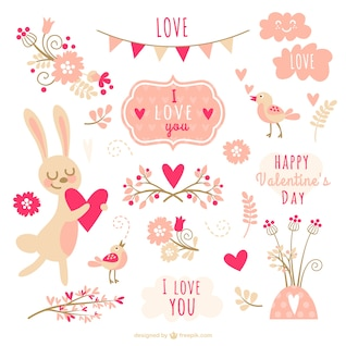 Valentine Element Sammlung