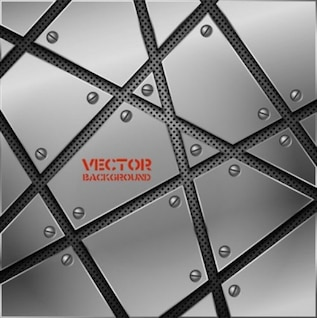Metall szenischen Hintergrund Vektor Pack