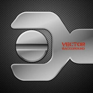 Vector Hintergrund metallic Maschine silber Smart dunkelgrau